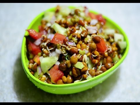 Moong Sprouts Salad Indian Breakfast Recipes @ Guru's Cooking