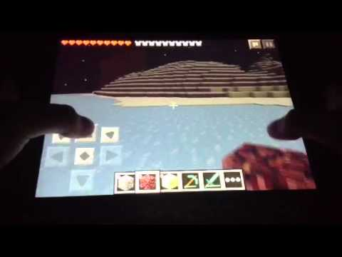 Minecraft PE glitch 0.7.5 glowing obsidian/house