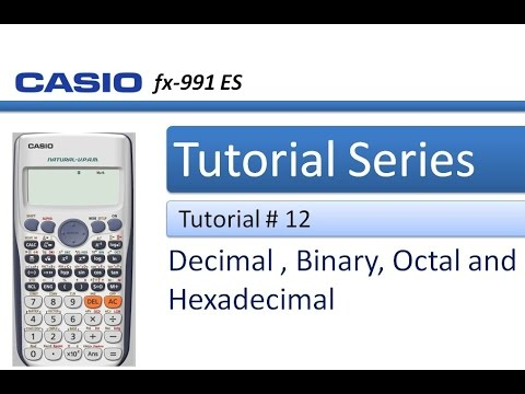 How to Convert a number from Decimal to Binary, Octal and Hexadecimal using Calculator