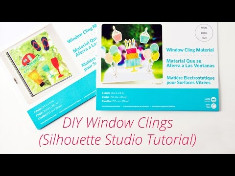 DIY Window Clings with Silhouette Window Cling Material (Silhouette Studio Tutorial)