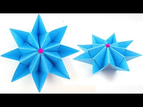How to make an easy origami flower / origami 3d flowers for beginners  for children /for  kids