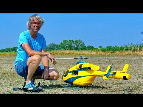 AMAZING RC MD-902 NOTAR ENGINE ELECTRIC SCALE MODEL HELICOPTER FLIGHT DEMONSTRATION