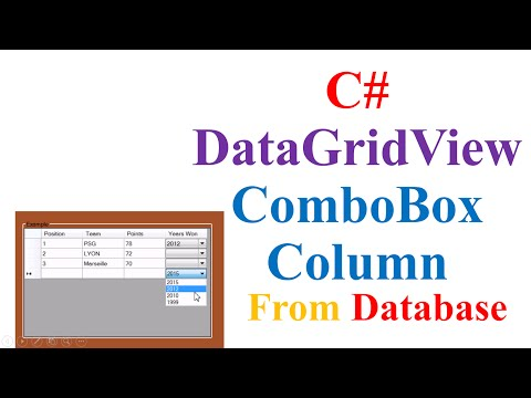 C# DataGridView ComboBox - Fill ComboBox Column With Data From DataBase