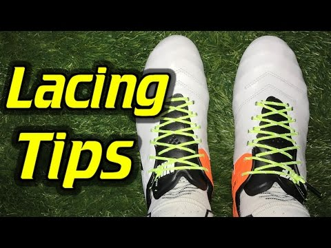 Lacing Tip - Cleanest Way to Tie Soccer Cleats/Football Boots