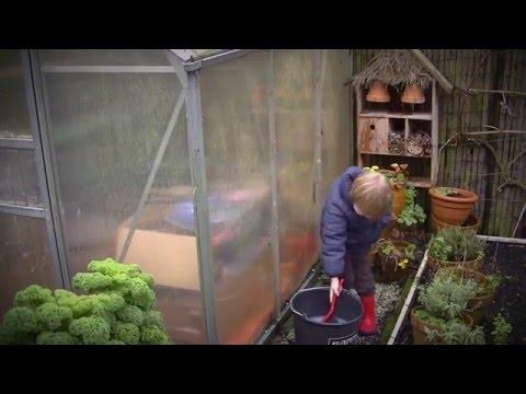 tuinonderhoud  - kasje schoonmaken en installeren micro grow light garden