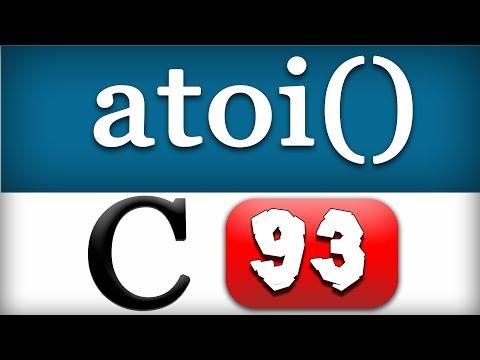 atoi Function in C Programming Language Video Tutorial