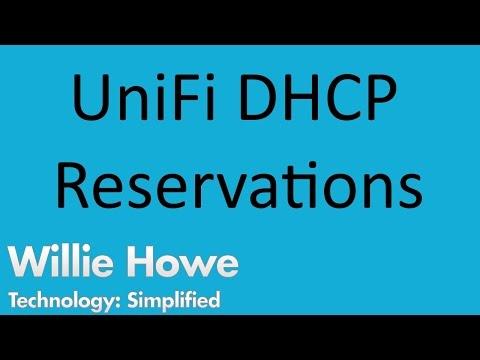UniFi USG DHCP Reservations