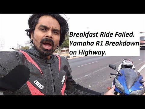 Breakfast Ride Failed. Yamaha R1 Breakdown on Highway.