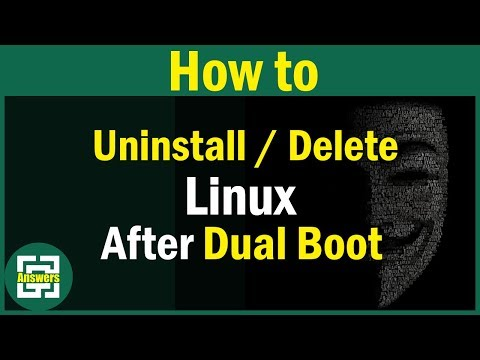 How to Uninstall / Delete Linux After Dual Booting