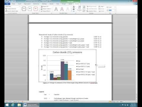 How to change the Width & Height of a Chart in MS Word 2010