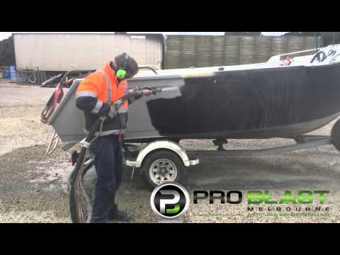Aluminium boat Antifoul and paint removal