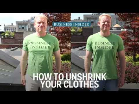 How to unshrink your clothes
