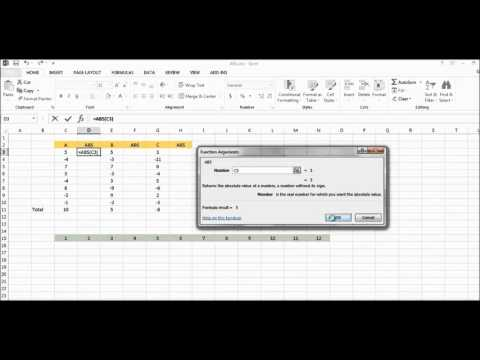 Microsoft Excel Absolute Value Function - ABS :  With Examples