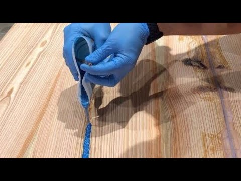 Reclaimed Epoxy Resin River Table - Woodworking How-to