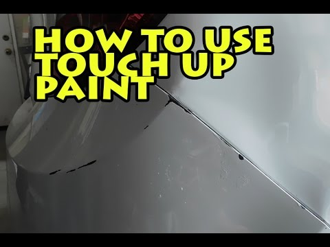 How to use paint touch up on car