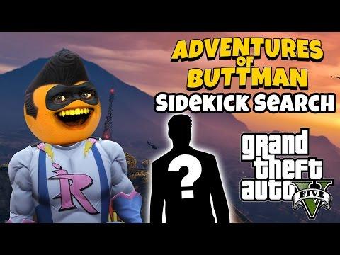 Adventures of Buttman #8: Sidekick Search! (Annoying Orange GTA V)