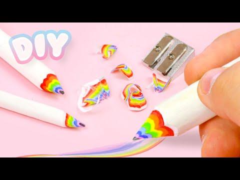 DIY RAINBOW Pencils - Back to School Supplies!
