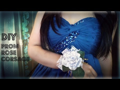 ♥ My Prom : DIY Paper Rose Corsage