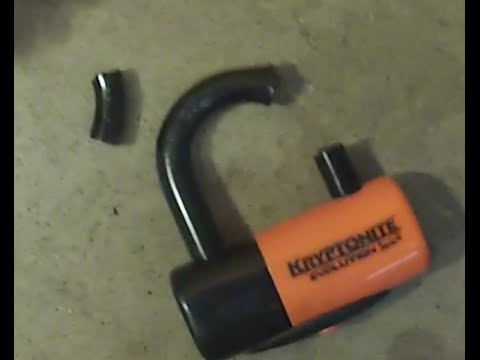 Cutting through a Kryptonite Series 4 U-lock