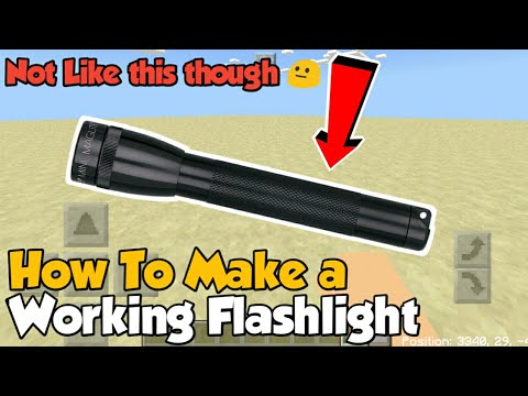 Minecraft PE | How to Make a Working Flashlight! | Command Block creation