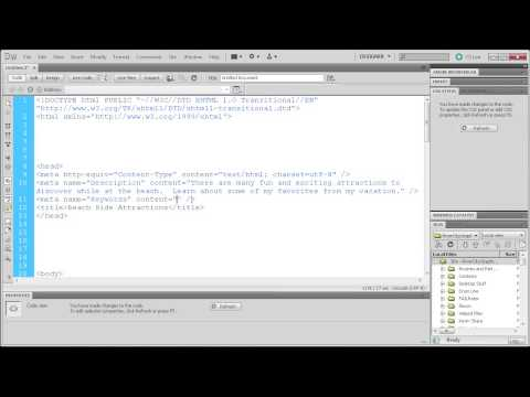 Dreamweaver Tutorial  Meta Tags and Search Engine Optimization  HD