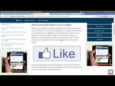 How to add Facebook like button on your website