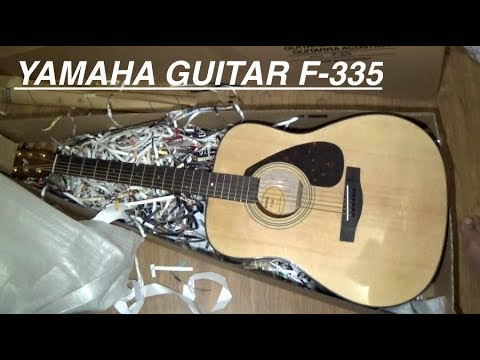 Yamaha F335 Acoustic Guitar Detail Look Unboxing (Watch Before You Buy)