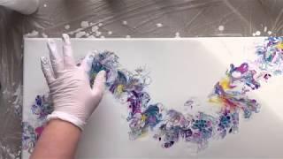Balloon Dip Or Ballon Kiss Acrylic Pour Painting