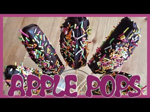 How to Make Chocolate Apple Pops | Dark Chocolate Dipped Apple Slices