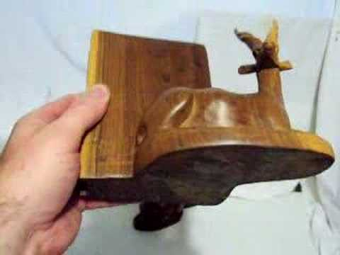 Carved Wood Bookends