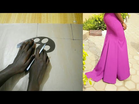 HOW TO DRAFT A PATTERN FOR PANELED OR GORE SKIRT (6 PIECES) | DETAILED TUTORIAL