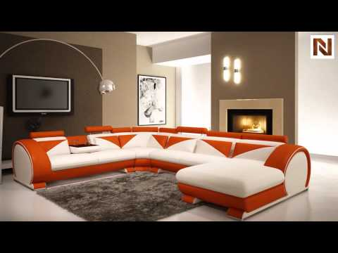 Fabulous Vig Furniture 5022 Polaris Orange Bonded Leather Sectional Caraccident5 Cool Chair Designs And Ideas Caraccident5Info