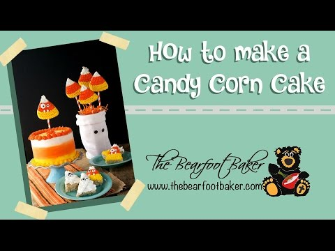 How to Make a Simple Candy Corn Cake | The Bearfoot Baker