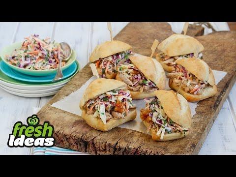Pulled Pork Recipe – Easy Pork Sliders with Coleslaw