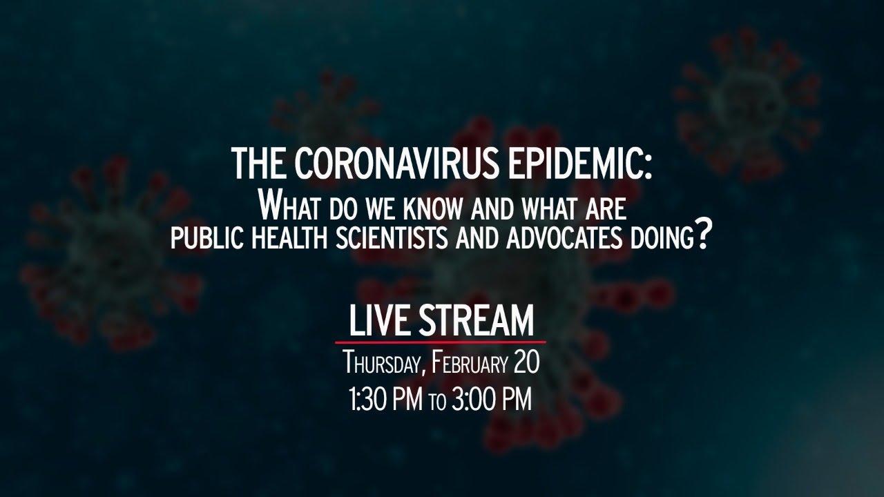 UMD   Public Health Symposium on Coronavirus
