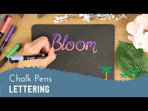 Calligraphy with Chalk Pens - Chalkboard Lettering | Stationery Island