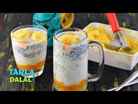 Mango Falooda by Tarla Dalal
