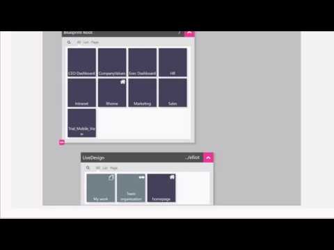 LiveTiles Blueprint. Quickly create and deploy SharePoint pages and IA.