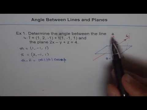 Angle Between Line and Plane Example 1