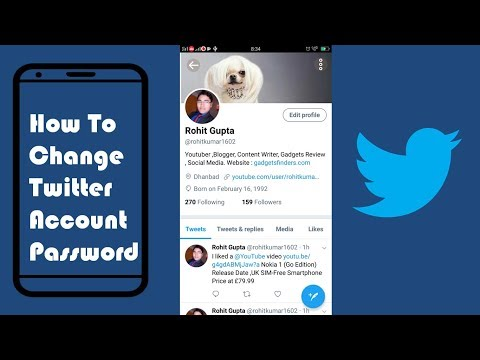 How To Change Twitter Account Password On Mobile 2018 (Android or iPhone) | Mobile App