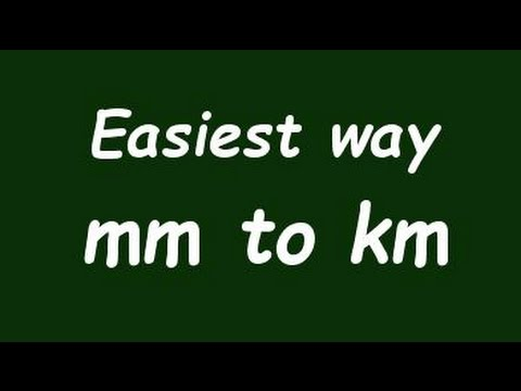 ✅ Convert mm to Km ( milimeter to kilometer) with Example