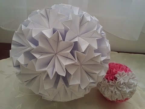 Wedding decoration DIY!  How can I make a flower ball decoration? 3D