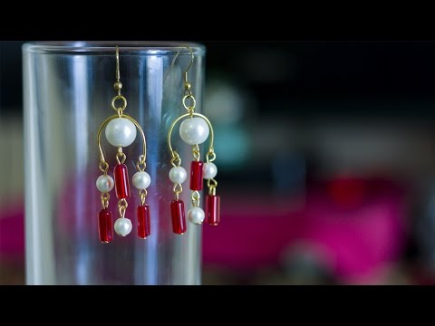 How to make earrings at home | DIY pearl earring |  pearl jewelry | Beads art