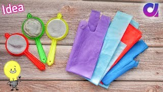 Best use of waste Strainer & fabric carry bag Craft idea | DIY Home Decor | Artkala