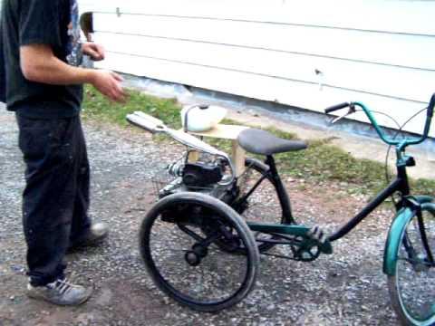 home made 3 wheeled trike