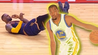 Kevin Durant Drops LeBron James! Kevin Durant Ankle Breaks LeBron James!  Must See!