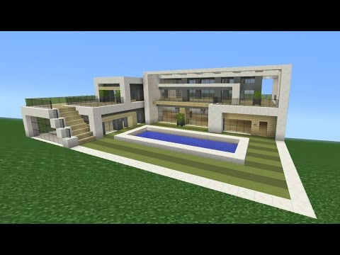 Minecraft Tutorial: How To Make A Modern Mansion