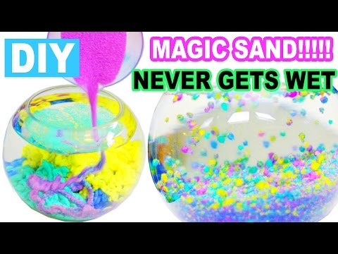 DIY How to Make Magic Sand!!! Never Gets Wet! Using 2 Simple Household Materials!
