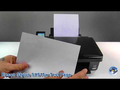 How To Do A Test Page On An Epson Stylus Sx515w