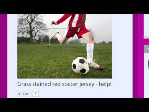 How to remove chocolate and grass stains.